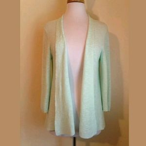 Eileen Fisher Open Front Cardigan Sweater Sz S